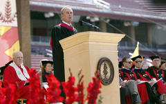 Mayor Michael Bloomberg supportive, teasing and challenging as Stanford commencement speaker