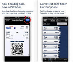british airways upgrades mobile app with passbook